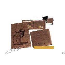 Skórzany portfel jeleń podczas rui, wysoki