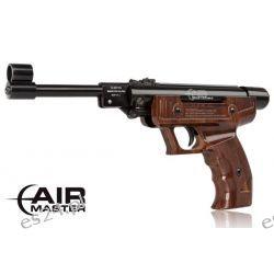 Wiatrówka - Pistolet AirMaster 25 kal. 4,5 mm brązowy