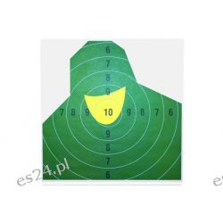 Tarcza strzelecka Popiersie żołnierza o wymiarach 50x50cm - kpl 10 szt.