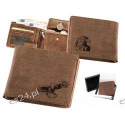 Skórzany portfel pionowy z motywem orła 01 Zegary