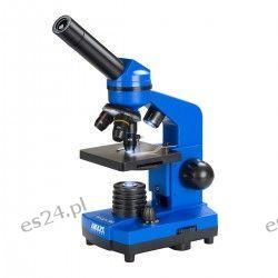 Mikroskop DO BioLight 100 niebieski z mikrotomem uczniowskim  Fotografia