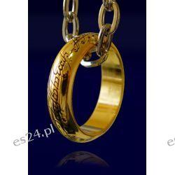 Pierścień z filmu Władca Pierścieni LOTR Ring The One Ring (pozłacany) Pozostałe
