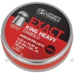 Śrut JSB Exact King Heavy MKII 6.35mm 150szt (546498-150)