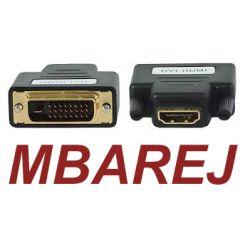 Adapter Przejściówka HDMI F DVI M Full HD GOLD