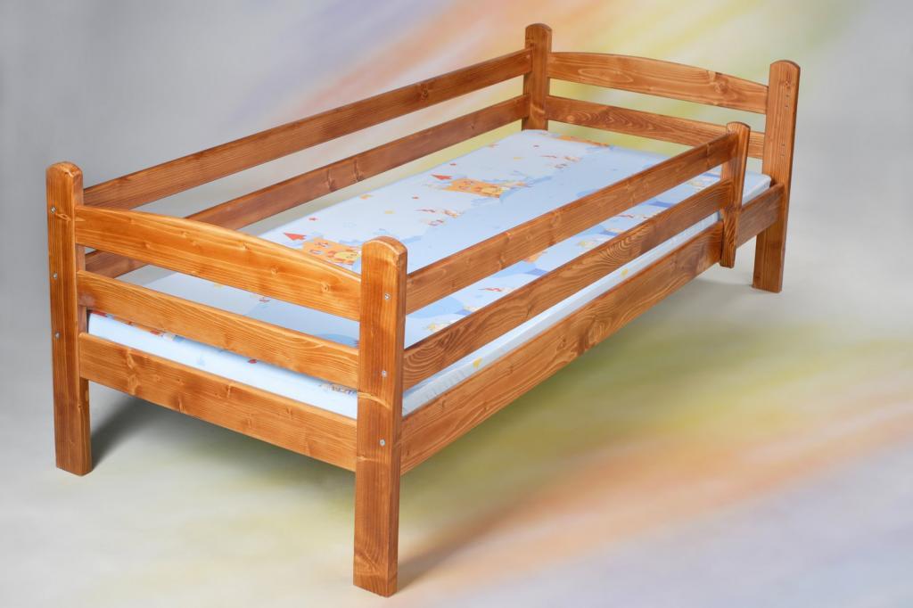 łóżko Dziecięce Z Barierkami I Materacem 160x70 Cm Na Bazarekpl