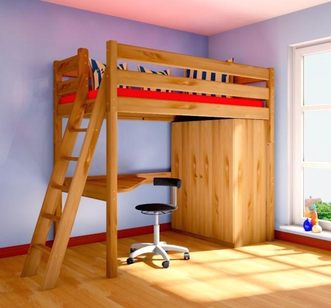 łóżko Piętrowe Antresola Z Materacembiurkoszafa Na Bazarekpl