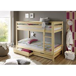 Łóżko dziecięce piętrowe z szufladami+materace 160x80