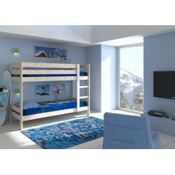 ŁÓŻKO PIĘTROWE DLA DOROSŁYCH+MATERACE 200x90  Łóżka piętrowe