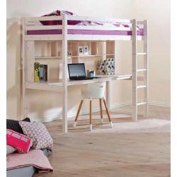 ŁÓŻKO PIĘTROWE ANTRESOLA + MATERAC+BIURKO I PÓŁKI Łóżka piętrowe