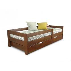 ŁÓŻKO DZIECIĘCE Z BARIERKĄ I SZUFLADĄ+MATERAC 160x80  Łóżka piętrowe