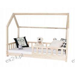 Łóżko dziecięce DOMEK materac 160x80+BARIERKI  Dla Dzieci