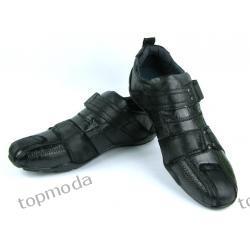 Modne buty męskie uniwersalny fason CZARNE(M75)