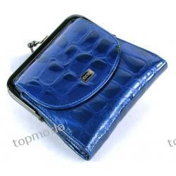 Portfel Skóra NICOLE 45504-13207 kolor niebieski wąż lakier