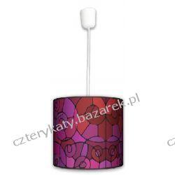 Lampa wisząca Witraż black Regały i półki