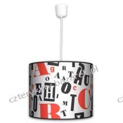 Lampa wisząca Retro Typografii Pufy
