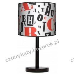 Lampa stojąca Retro typografia