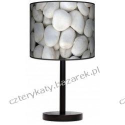 Lampa stojąca Biały kamień Pufy