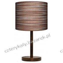 Lampa stojąca Rattan brąz Pufy