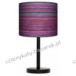 Lampa stojąca Rattan fiolet Garderoby i szafy