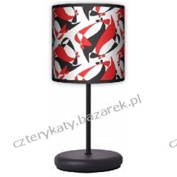 Lampa stojąca eko Black Red White Regały i półki
