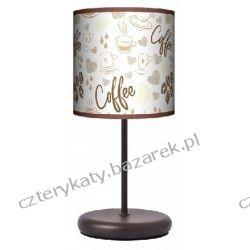 Lampa stojąca eko coffe time Łóżka pojedyncze