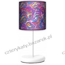 Lampa stojąca eko Kolorowe fale Pufy