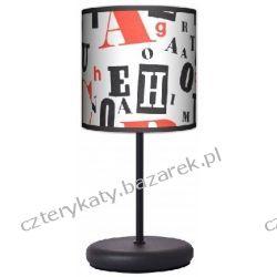 Lampa stojąca eko Retro typografia Biurka