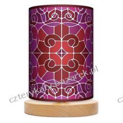 Lampa stojąca mała Witraż mozaika Pufy