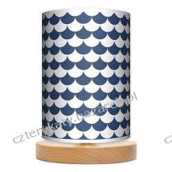 Lampa stojąca mała Łuska blue Garderoby i szafy