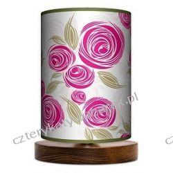 Lampa stojąca mała Pink rose Pufy