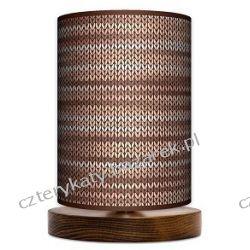 Lampa stojąca mała Rattan brąz Regały i półki