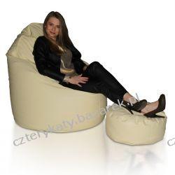 Fotel Coccon + podnóżek  XXXL Pufy