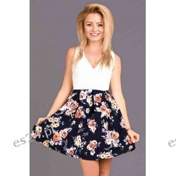 Sukienki letnie w kwiaty - S, L