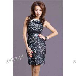 Sukienki wieczorowe koronkowe mini - S