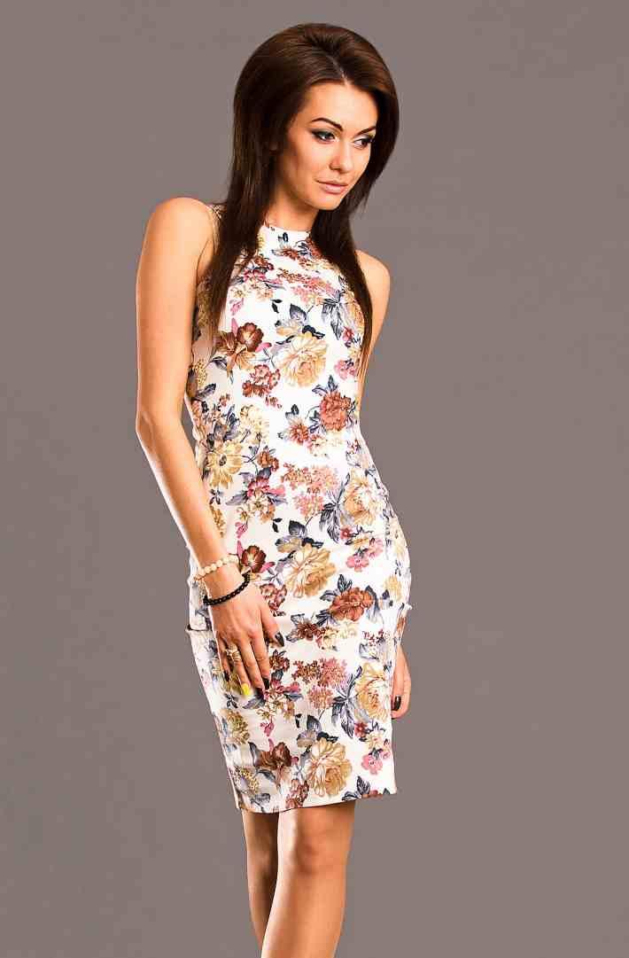 0429e51f3405 Sukienki letnie szyfonowe w kwiaty rozm. - M