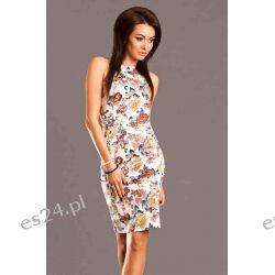 Sukienki letnie szyfonowe w kwiaty rozm. - M, L