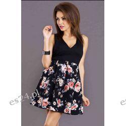 Sukienki letnie w kwiaty - M, L