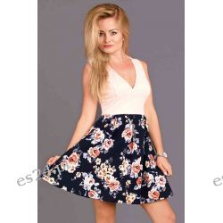 Sukienki letnie w kwiaty - L