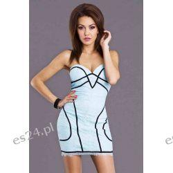 Sukienki wieczorowe szyfonowe z koronki  L