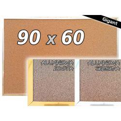 TABLICA KORKOWA W RAMIE 60x90 90x60 cm