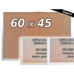TABLICA KORKOWA W RAMIE 60x45 45x60 cm