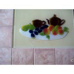 Szklany dekor kuchenny