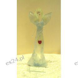 Anioł szklany świecznik