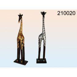 Drewniana figurka żyrafy - 2 sztuki