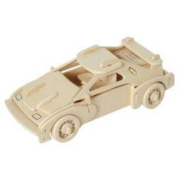 Drewniane puzzle 3D - samochód