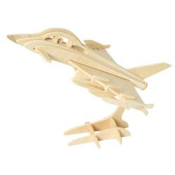 Drewniane puzzle 3D - samolot
