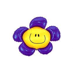 Balon foliowy 14 SHP Kwiatek, fioletowy, 1szt.