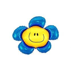 Balon foliowy 36 SHP Kwiatek, niebieski, 1szt.