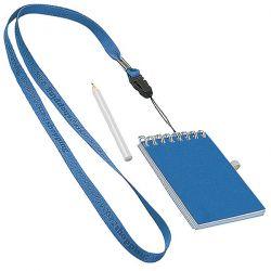 Smycz na szyję z notesem i ołówkiem