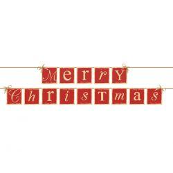 Baner Merry Christmas, 14,5 x 220cm, 1szt.